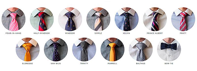 Corbata nudos for Nudos de corbata modernos