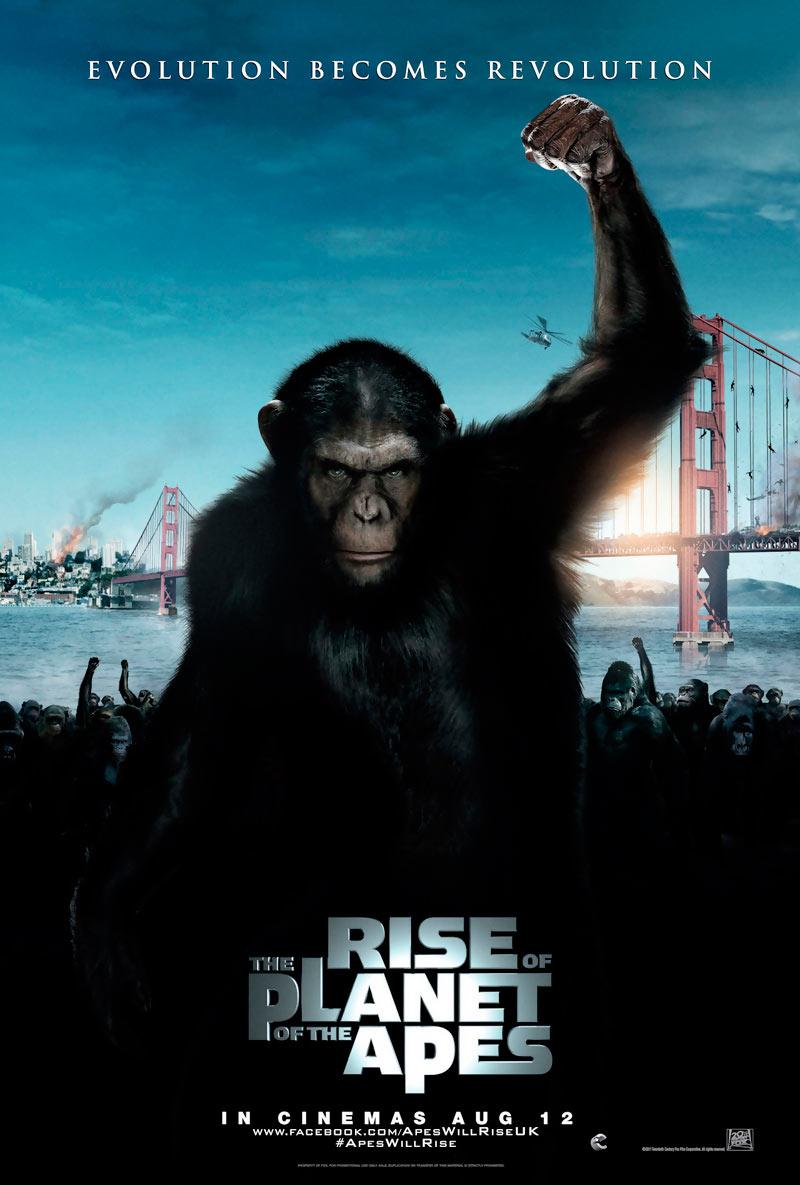 El origen del Planeta de los Simios (Rise of the Planet of the Apes), de Rupert Wyatt